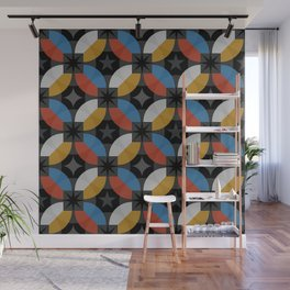 Lovely abstract hand drawn vintage geometric illustration pattern Wall Mural