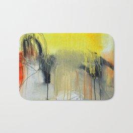 Gold Yellow Abstract Print  Bath Mat