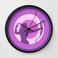 avenger Wall Clocks featuring Kate Bishop: Young Avenger by semisweetshadow