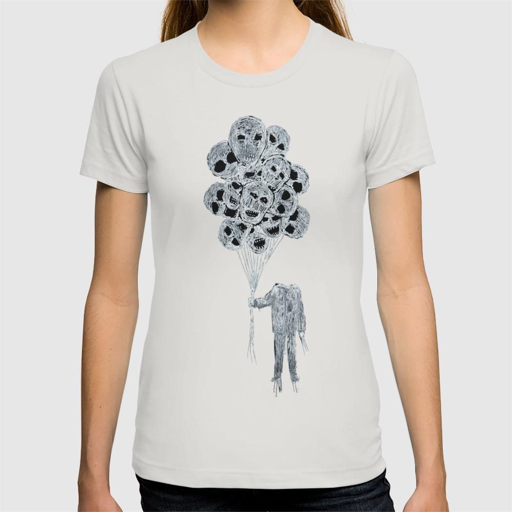 Balloon Man Black Sun T-shirt