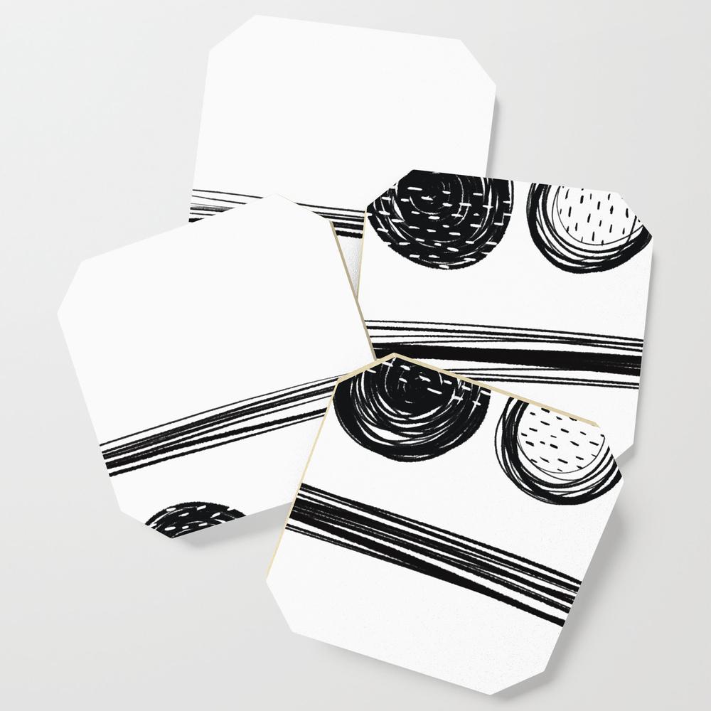 Black White One Coasters by Karapeters S6C9062757