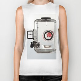 Transparent waterproof camera case and dice Biker Tank