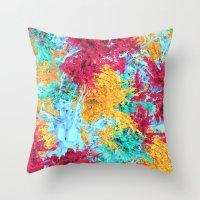 splash Throw Pillows featuring Splash! by Eleaxart