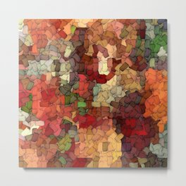 Autumn Inspired Torn Scraps 2492 Metal Print
