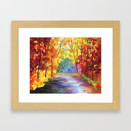 Fall On The River Framed Art Print