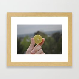 """Sour"" Framed Art Print"
