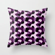 Purple Camo Pattern Throw Pillow