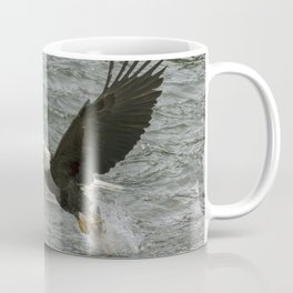 Bald  Eagle catching fish from river. Coffee Mug