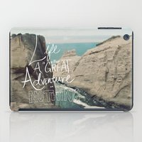 typo iPad Cases featuring Great Adventure by Leah Flores
