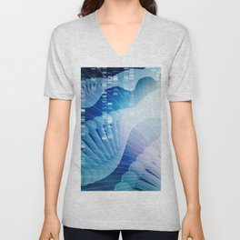 DNA Molecule Helix Science Abstract Background Art Unisex V-Neck