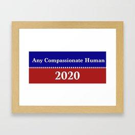 Compassionate Human 2020 Framed Art Print