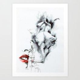 NUDEGRAFIA - 55 smoke Art Print