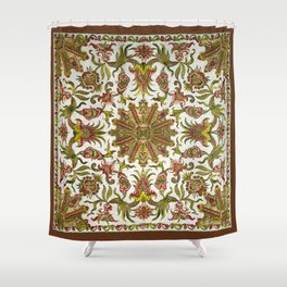 18th Century Embroidery Shower Curtain