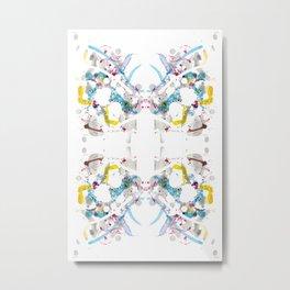 SYM 28 - mixed media symmetry Metal Print