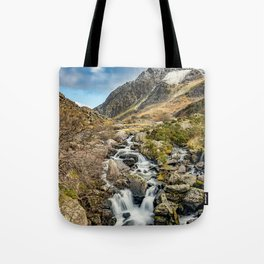 Tryfan and Ogwen Falls Tote Bag