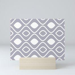 SCANDY GRAY AND WHITE BY SUBGRL Mini Art Print