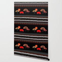 African Rhino (Hot colors) Wallpaper