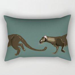 Carnivores of World: Jagouaroundi on blue (c) 2017 Rectangular Pillow