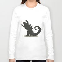 godzilla Long Sleeve T-shirts featuring Godzilla by Arsyl Art