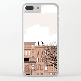 Waiting for Summer art print, modern print, home wall decor, apartment wall art, poster, gift Clear iPhone Case