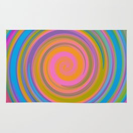 Colorful swirling pattern Rug