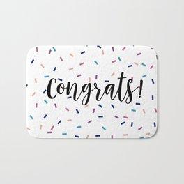 Congrats Sprinkles Bath Mat