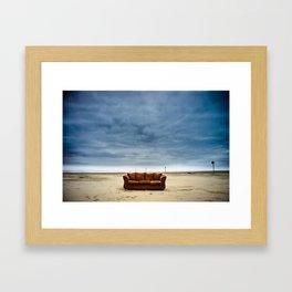 Couch on the Beach Framed Art Print