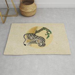 Tiger with magpie type-D : Minhwa-Korean traditional/folk art Rug
