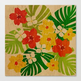 Limahuli Garden Hawaiian Floral Design Canvas Print