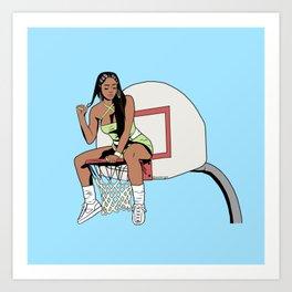 Saweetie Art Print