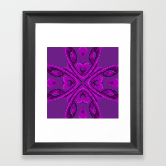 Hot Pink Hearts Framed Art Print