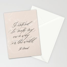 Make my own way in the world | Little Women Quote | Jo March Stationery Cards