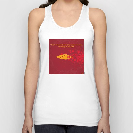 No176 My wanted minimal movie poster Unisex Tank Top