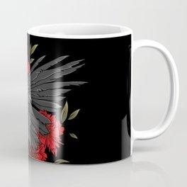 Raven with flowers Coffee Mug