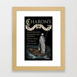 Charon's Ferry Service Framed Art Print