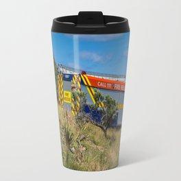 Fire Engine On The Coast Travel Mug