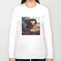 thorin Long Sleeve T-shirts featuring Dwalin / Thorin by Rshido