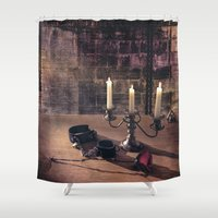 bdsm Shower Curtains featuring BDSM Rendezvous by Simone Gatterwe