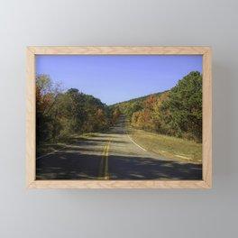 Fall Country Road Talimena Scenic Drive Framed Mini Art Print