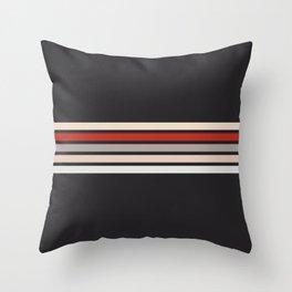 Midnight Retro Stripes Throw Pillow