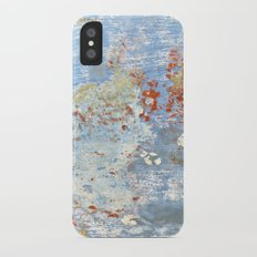 Memories of the Sea -- abstract marine paint age grunge boat nautical  iPhone X Slim Case