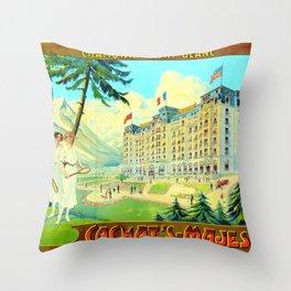 Chamonix-Mont-Blanc - Cachat's Majestic Throw Pillow
