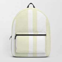 Mixed Vertical Stripes - White and Beige Backpack