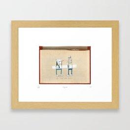 Staring contest Framed Art Print