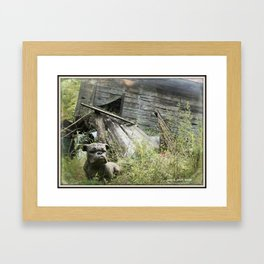 Hey Bulldog! * Guard dog of the used to be useful Framed Art Print