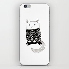 Cat with pattern  iPhone & iPod Skin