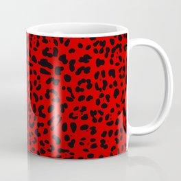 Punk Rock Red Leopard Pattern Coffee Mug