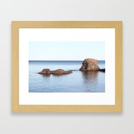 A Calm in Lake Superior Framed Art Print