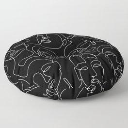 Expression In Dark Floor Pillow