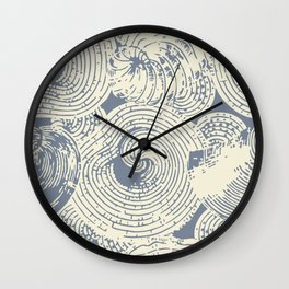 Shells in Cream and Blue Wall Clock